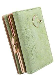 Sanwood กระเป๋าสตางค์หนังเทียมคลัตช์ (สีเขียว)