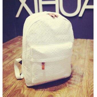 Premium Bag กระเป๋าเป้สะพายหลัง กระเป๋าเป้เกาหลี รุ่น PB020(สีขาว)