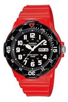 Casio Standard Analog นาฬิกาข้อมือสไตล์สปอร์ต MRW-200HC-4BVDF – สีแดง/ดำ