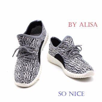 Alisa Shoes รองเท้าผ้าใบแฟชั่นผู้ชาย รุ่น AL9999 White