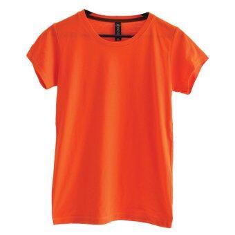 Chahom เสื้อยืดคอกลม ( สีส้มเข้ม )