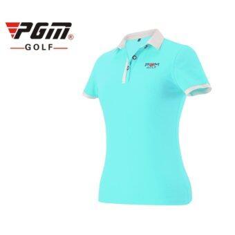 EXCEED GOLF LADY SHIRT BLUE COLOUR เสื้อกอล์ฟสุภาพสตรีแขนสั้น PGM สีฟ้า (YF038)