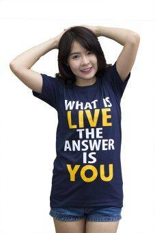 Live เสื้อยืด รุ่น What is Live (สีกรม)