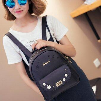 B'nana Beauty กระเป๋าเป้สะพายหลัง กระเป๋าเป้เกาหลี กระเป๋าสะพายหลังผู้หญิง backpack women รุ่น GB-01 (สีดำ)