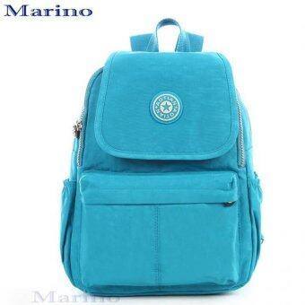 Marino กระเป๋า กระเป๋าเป้ กระเป๋าเป้สะพายหลังผ้าไนล่อนกันน้ำอย่างดี No.0189 - Blue