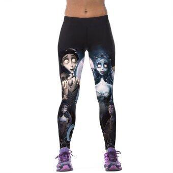 Allwin ในยิมการออกกำลังกายแบบสตรีโยคะออกกำลังกายยืดกางเกงกางเกงกีฬาการพิมพ์หลายสี