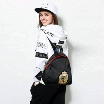 A billion กระเป๋า กระเป๋าเป้ กระเป๋าสะพายหลังสีดำ Woman Backpack No.F - 10010 (Black)