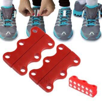 Elit เชือกรองเท้า แม่เหล็กผูกเชือกรองเท้า แม่เหล็กแรงสูง Magnetic Shoelace (สีแดง)