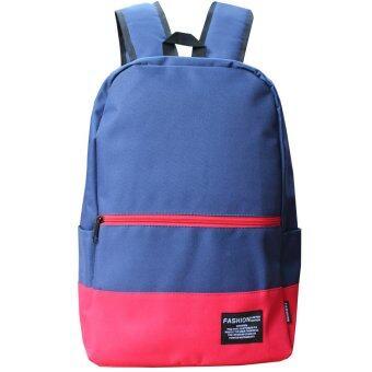 Peimm Modello Backpack 41 Cm.MiB กระเป๋าเป้สะพายหลัง สไตส์เกาหลี (สีกรมท่า)