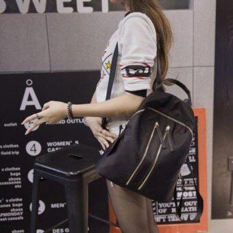 B'nana Beauty กระเป๋าเป้สะพายหลัง กระเป๋าเป้เกาหลี กระเป๋าสะพายหลังผู้หญิง backpack women รุ่น GB-09 (สีดำ)