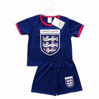 Periquita ไซส์ 1-7 ปี เซ็ต 2 ชิ้น ชุดกีฬาเด็ก ชุดฟุตบอลเด็ก ทีมชาติอังกฤษ สีกรมท่า