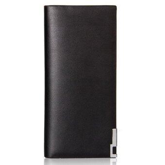 Matteo กระเป๋าใส่เช็คและเงินสำหรับผู้ชาย รุ่น Long Wallet - สีดำ/ดำ