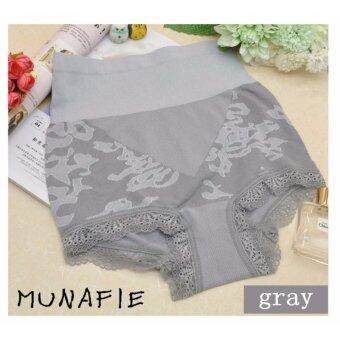 MUNAFIE MODEL 2 กางเกงในเก็บพุงจากญี่ปุ่น กางเกงสเตย์ กางเกงในลดไขมัน (สีเทา)
