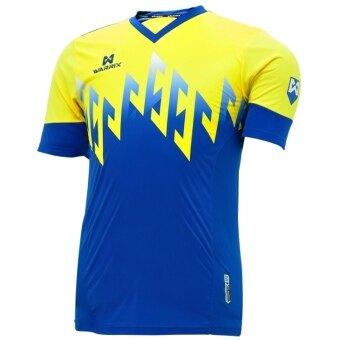 WARRIX SPORT เสื้อฟุตบอลพิมพ์ลาย WA-1519 ( สีน้ำเงิน-เหลือง )