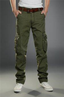 ชายเป็นคนตรงไปตรงมา Hotyv คลาสสิคสินค้าทหารลำลองกางเกง HPT036 กองทัพสีเขียว