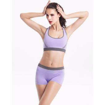 Vena Wear ชุดชั้นในออกกำลังกาย ชุดชั้นในกีฬา (สีม่วง)