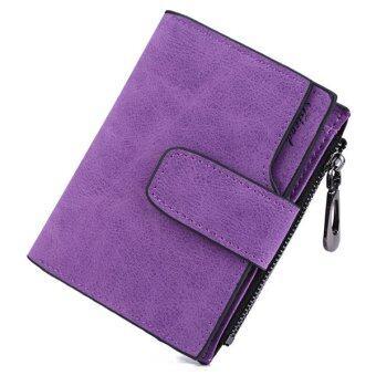 MATTEO กระเป๋าเงิน กระเป๋าสตางค์ ผู้หญิง 3 ชั้น Friend (สีม่วง)