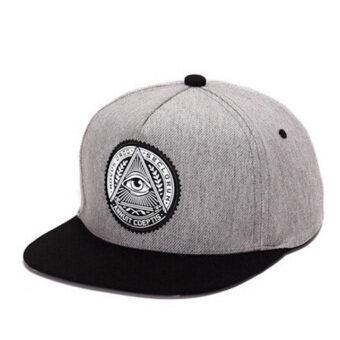 แฟชั่นหมวกกีฬากลางแจ้ง Hequ รูปแบบหมวกเบสบอลคนปรับได้ดวงตาสีเทา