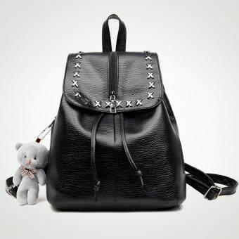 Little Bag กระเป๋าเป้สะพายหลัง กระเป๋าเป้เกาหลี กระเป๋าสะพายหลังผู้หญิง backpack women รุ่น LP-113 (สีดำ)