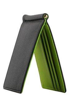 Sanwood อุลบางคลิปมายากลกระเป๋าสตางค์มีเงิน (สีเขียว)