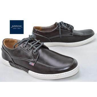 ARROW รองเท้าหนังผู้ชาย Limited edition รุ่น SMN090 (Dark Grey)