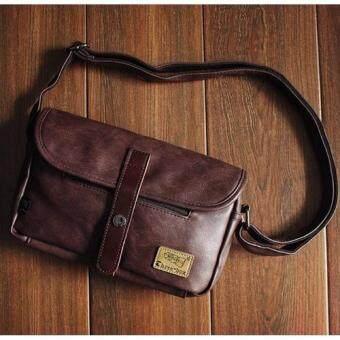 B'nana Beauty กระเป๋าสะพายข้างผู้ชาย กระเป๋าสะพายข้าง กระเป๋าผู้ชาย รุ่น BNEW-06 (สีน้ำตาลไหม้เล็ก)