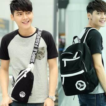 Peimm Modello JANS Showy Style กระเป๋าเป้สะพายหลัง + กระเป๋าสะพายพาดลำตัว กระเป๋าคาดอก สไตส์เกาหลี