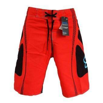 เซ็กซี่ชายขากางเกงว่ายน้ำชายกางเกงกีฬา Boardshorts ชุดว่ายน้ำสีแดง