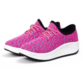 POCA SHOES Ruby sneakers Fashion รองเท้า ลำลอง ผ้าใบ ผู้หญิง แฟชั่น ราคาถูกสวยๆ กันลื่น เสริมส้น Sport Girl รุ่น PS-Pink/Blue