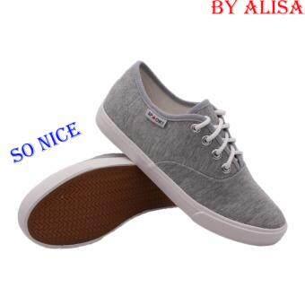 Alisa Shoes รองเท้าผ้าใบผู้หญิง รุ่น 2655 Grey