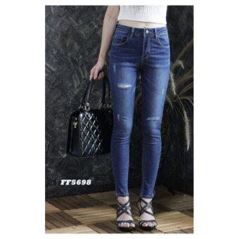 platinum fashion กางเกงยีนส์ขายาว สินค้านำเข้า เนื้อผ้า สีสวย รุ่นPFF5698