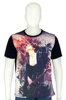 D2Shirt DB01 เสื้อยืดคอกลมลายนักดนตรีกีตาร์