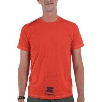 PHIL เสื้อยืดคอกลม ลายหอเอนปิซ่า - สีส้ม