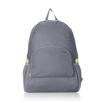 Marino กระเป๋าเป้ กระเป๋าสะพายหลัง กระเป๋าเป้พับเก็บได้ Backpack No.9003 - Gray