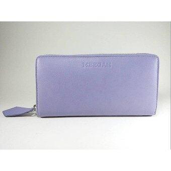 Meegan กระเป๋าสตางค์ Zip Around Leather รุ่น ZR012 (Lavender)
