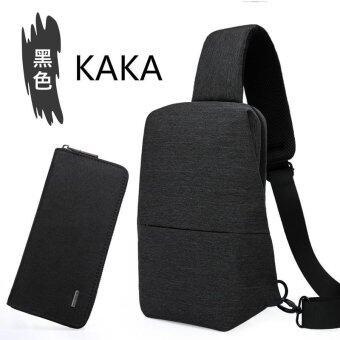 Harga KAKA Chest Pack Mens Single Shoulder Bag Bag Satchel Bag Backpack All-match Student Multifunctional Ferrino Male - intl
