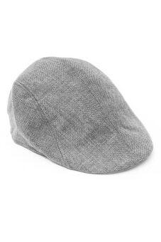 ชายสวมหมวกตลอดไป Fancyqube Gatsby เถาแบนคนขับสวมหมวกนักกอล์ฟขนมปังสีเทา
