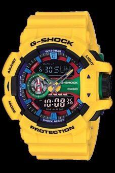 Casio G-Shock นาฬิกาข้อมือผู้ชาย สีเหลือง สายเรซิ่น รุ่นGA-400-9ADR