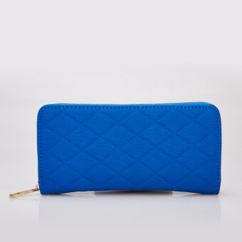 Harga Stitch women's Quilted zip around wristlet (Blue) - Intl