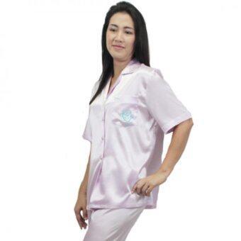 Rika ชุดนอนปาจามา เสื้อ+กางเกงขายาว FV3014 สีม่วงอ่อน