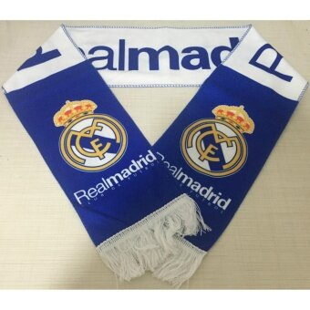 Harga Real Madrid Football Club Soccer Scarf Neckerchief Fan Souvenir - intl