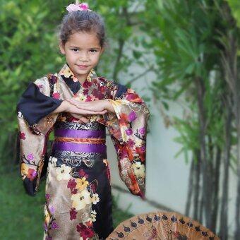 Princess of Asia ชุดกิโมโนญี่ปุ่นเด็ก (สีดำ)