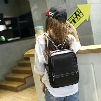 Little Bag กระเป๋าเป้เกาหลี กระเป๋าสะพายหลังผู้หญิง กระเป๋าแฟชั่น backpack women รุ่น LP-151(สีดำ)