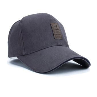 นิวแฟชั่นหมวกเบสบอลกีฬา 2559 เพศ Snapback กอล์ฟหมวกแข็ง ๆ กลางแจ้งสำหรับคนกระดูก (สีเทา)