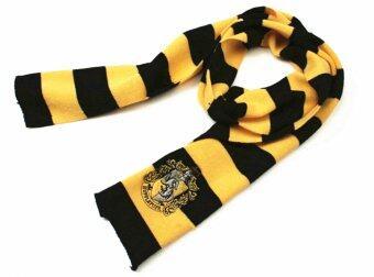 Harry Potter คอสเพลย์ชุดผ้าขนสัตว์ไหมพรม Vouge บ้านฮัฟเฟิลพัฟ และผ้าพันคอตัด