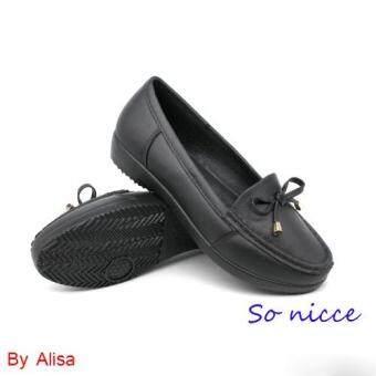 Alisa Shoes รองเท้า พลาสติคแฟชั่น รุ่น HY2830 Black