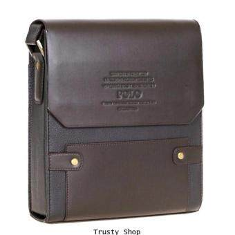 Trusty กระเป๋าสะพาย กระเป๋าผู้ชาย กระเป๋าหนัง กระเป๋าไอแพ็ต กระเป๋าเอกสาร Polo Videng 0599 - Brown