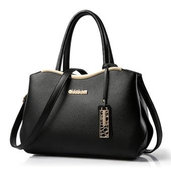 Little Bag กระเป๋าถือ พร้อมสายสะพาย กระเป๋าสะพาย แบบมีหูหิ้ว รุ่น LB-041 (สีดำ/สีทอง)