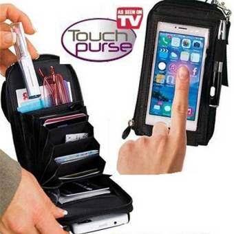 OSCAR กระเป๋าใส่โทรศัพท์มือถือ กระเป๋าใส่โทรศัพท์ เคส iphone 5s กระเป๋าสตางค์ กระเป๋าสะพายข้างblack