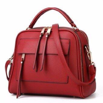 Good things For u กระเป๋าสะพายข้างผู้หญิง หนัง PU รุ่น 0033HB - สีแดง
